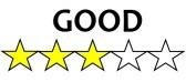 3 Stars Good
